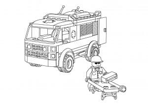 Машина Лего и человечек строитель
