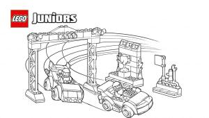 Лего две машины на гонках