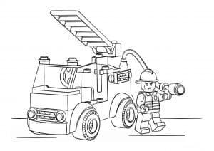Лего машина и будка раскраска