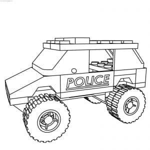 Машина полиция раскраска для мальчиков