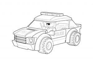 Машина Лего полиция с двумя дверями