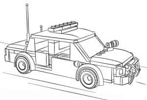 Машина Лего с красивым бампером