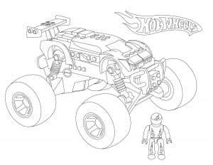 Большая машина Лего монстр