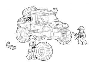 Джип Лего раскраска детская