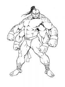 Мортал Комбат герой Горо раскраска