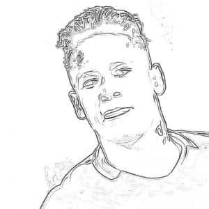 Раскраска для мальчиков футболист Неймар