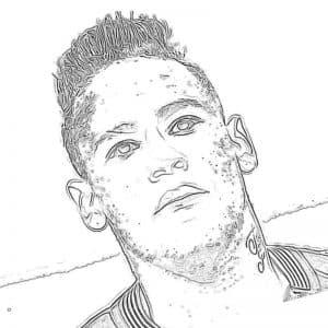 Лицо футболиста Неймар раскраска