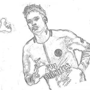 Футболист Неймар бежит