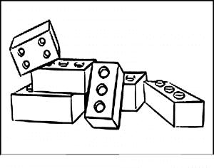 кубики лего раскраска