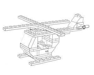 вертолет лего раскраска