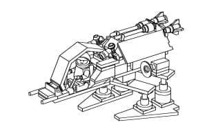 Лего робот с ракетами раскраска