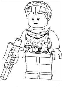 Лего воин с огнем раскраска