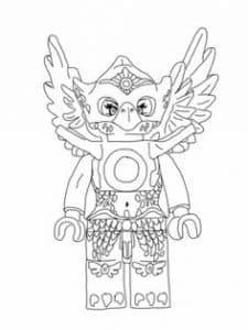 Птичка Лего раскраска