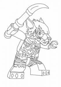 Лего волк раскраска