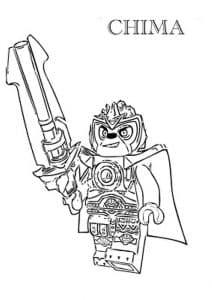 Лего Чима раскраска