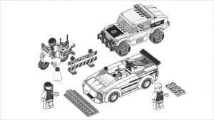 Автомобили Лего раскраска