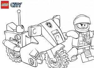 Лего мотоциклист раскраска