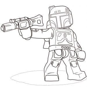 Солдат Лего с оружием