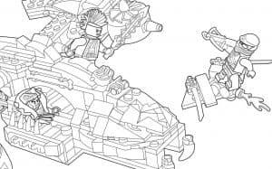Лего космос раскраска