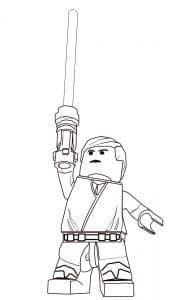 Лего человек поднял меч раскраска