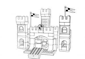 Замок лего раскраска детская