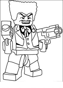 раскраска злодей лего с оружием