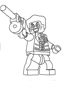 Раскраска человек лего с пушкой