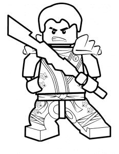 Лего воин с мечом раскраска