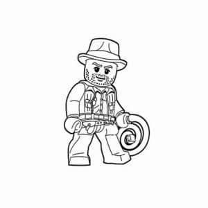 Раскраска ковбой лего