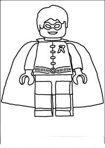 Супергерой Лего раскраска