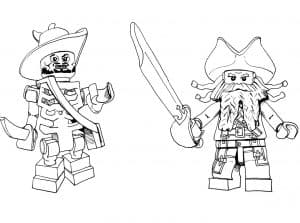 Раскраска Lego пираты