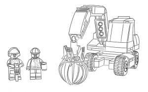 Рабочие Лего раскраска