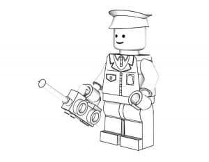 Полицейский Лего раскраска