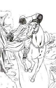 Ассасин на коне раскраска