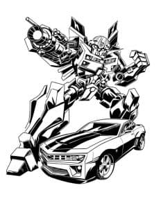 Герой Бамблби и машина