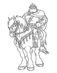 Старый воин на коне