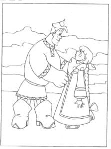 Алеша Попович с невестой