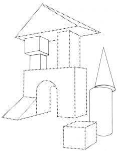 домик из конструктора