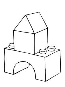 конструктор лего раскраска детская