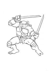 Леонардо с мечами