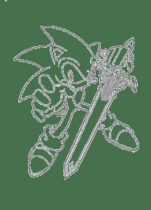 Соник с мечом раскраска