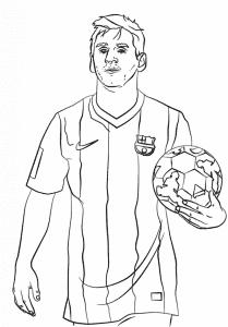 Футболист Месси раскраска