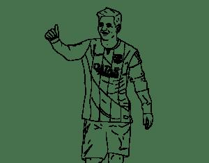 Футболист Лионель Месси раскраска