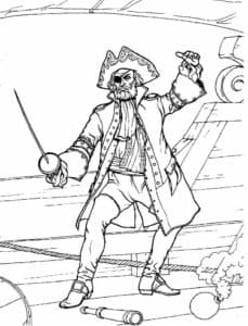 Пират со шпагой
