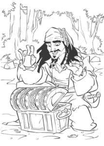 Джэк воробей и сундук с сокровищами