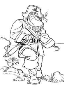 Пират с крюком вместо руки