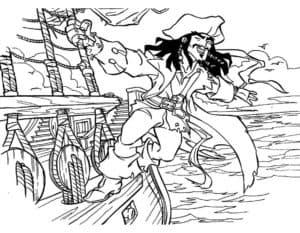 Пират плывет на коробле