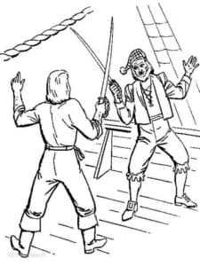 Пираты сражаются