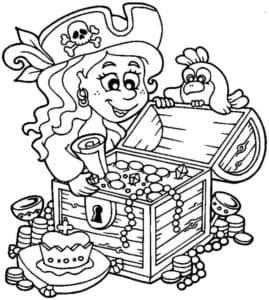 девочка пират и сокровища