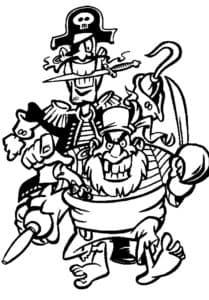 Злые пираты раскраска детская